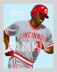 Digital Illustration of Ken Griffey, Sr. - one of the All-Time Greats from the Big Red Machine!