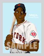 Digital Illustration of Willie Mays - one of the All-Time Great Diamond Legends of baseball!