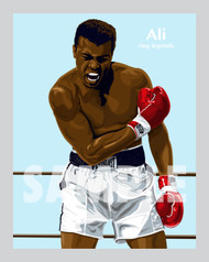 Digital Illustration of Muhammad Ali - Simply the Greatest!!