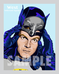 Bam! Pow! Boom! Digital illustration of iconic actor Adam West!
