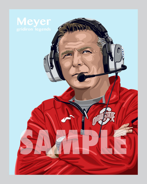 Digital Illustration of Urban Meyer - one of the All-Time Gridiron Greats!