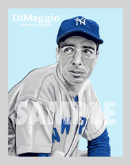 Digital Illustration of Joe DiMaggio - one of the All-Time Great Diamond Legends of baseball!