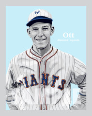 Digital Illustration of Mel Ott – Hall of Famer and one of the All-Time great Diamond Legends of baseball!