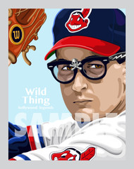 Digital illustration of the Wild Thing himself, Ricky Vaughn from the movie Major Leagues starring iconic actor Charlie Sheen.