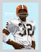 Digital Illustration of who many consider the greatest running back ever, Hall of Famer Jim Brown!