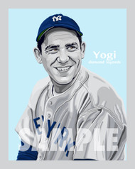 Digital Illustration of one of the greatest catchers ever, Hall of Famer great Yogi Berra!