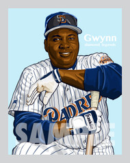 Digital Illustration of one of the baseball All-Time greatest hitters, Hall of Famer and San Diego great Tony Gwynn!!