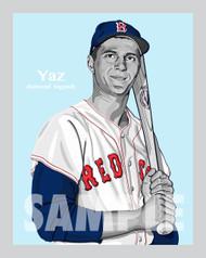 Digital Illustration of one of the All-Time great Diamond Legends of baseball, Hall of Famer and Boston great Carl Yastrzemski!