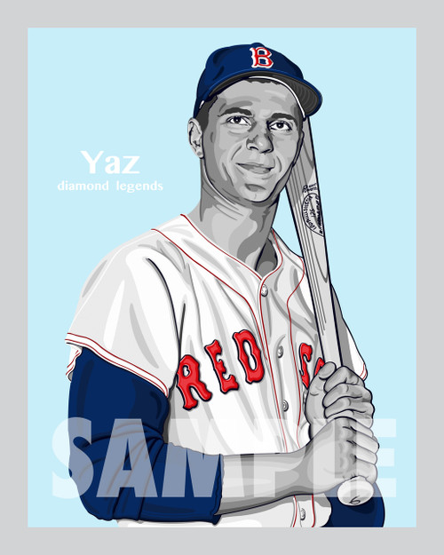 Digital Illustration of one of the All-Time great Diamond Legends of baseball, Hall of Famer and Boston great Carl Yastrzemski!