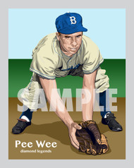 Digital Illustration of Pee Wee Reese - one of the All-Time great Diamond Legends of baseball!