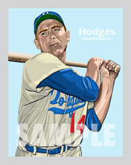 Digital illustration of one of the All-Time baseball greats, Gil Hodges.