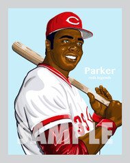 Digital illustration of one of the All-Time Cincinnati baseball greats and fan favorites, outfielder Dave Parker!