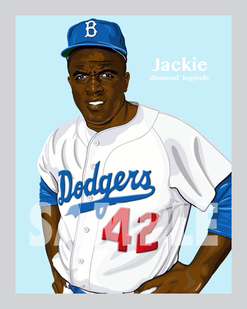 One of baseball's All-Time Greats and the man that broke the color barrier baseball great and Hall of Famer Jackie Robinson!
