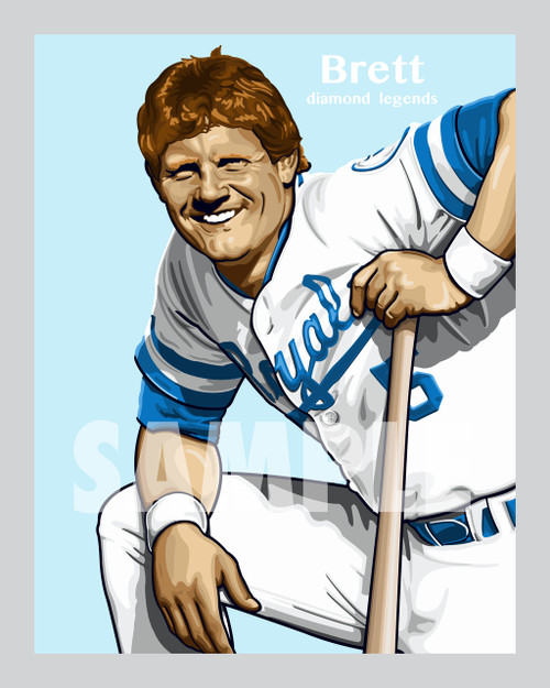 Digital Illustration of George Brett - one of the All-Time great Diamond Legends of Baseball!!