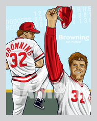 Digital Illustration of baseball great and Mr. Perfect, Tom Browning!!