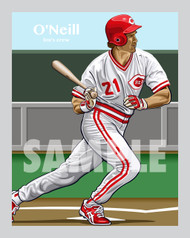 Digital illustration of one of Cincinnati's All-Time Reds greats, Paul O'Neill!