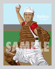 Digital Illustration of one of Cincinnati's All-Time Greats Ed Bailey!