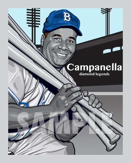 Digital Illustration of Roy Campanilla - one of the All-Time great Diamond Legends of Baseball!!