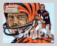 Digital Illustration of Kenny Anderson - one of Cincinnati's all-time gridiron greats quarterback!!