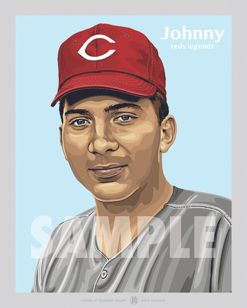 Digital Illustration of Hall of Famer and Cincinnati great, Johnny Bench!!