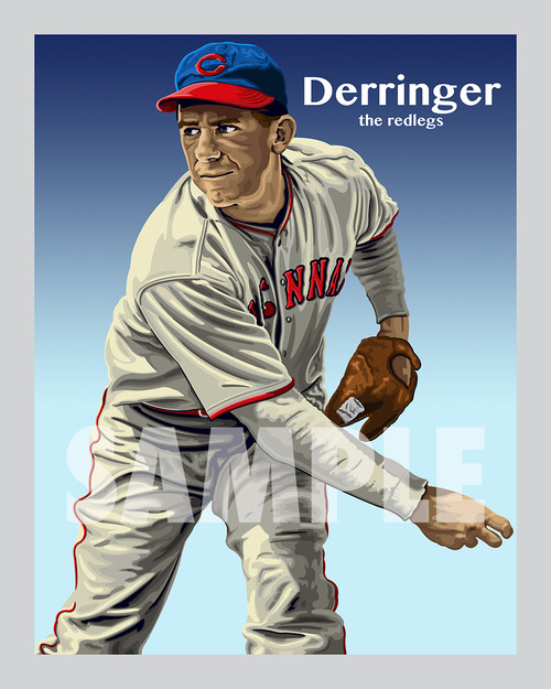 Digital Illustration of one of the All-Time Great Redlegs, pitcher Paul Derringer!!