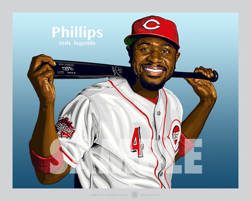 Digital Illustration of Brandon Phillips – one of stars from The New Machine!