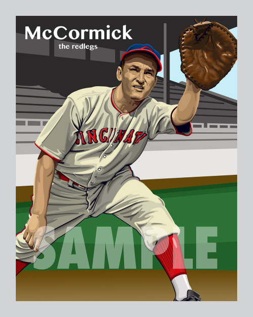 Digital Illustration of one of the All-Time Great Redlegs, Infielder Frank McCormick!!
