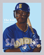 Digital Illustration of one of the All-Time Diamond Legends of baseball, The Kid, Hall of Famer Ken Griffey, Jr.!