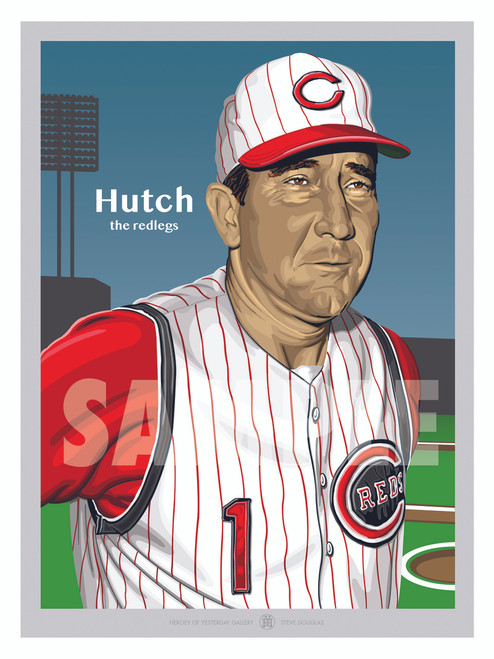 Digital Illustration of a Cincinnati fan favorite manager Fred Hutchinson.