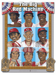 Illustration of one of baseball's best teams ever, the 1975 and 1976 World Champion Big Red Machine!