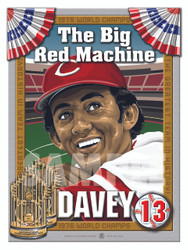 Illustration of Big Red Machine and Cincinnati fan favorite and should be an Hall of Famer #12 Davey Concepcion!