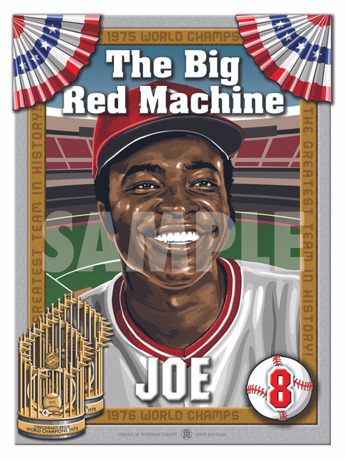 Illustration of Big Red Machine and Hall of Famer #8 Joe Morgan!