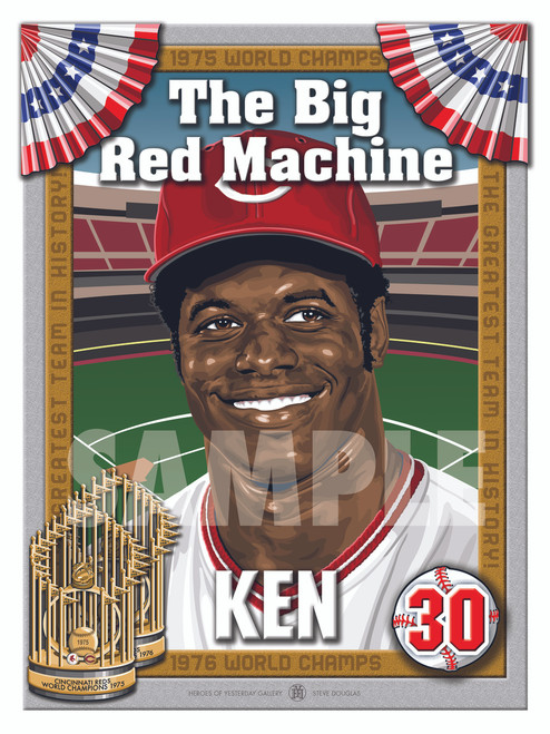 Illustration of Big Red Machine and Cincinnati fan favorite #30 Ken Griffey!