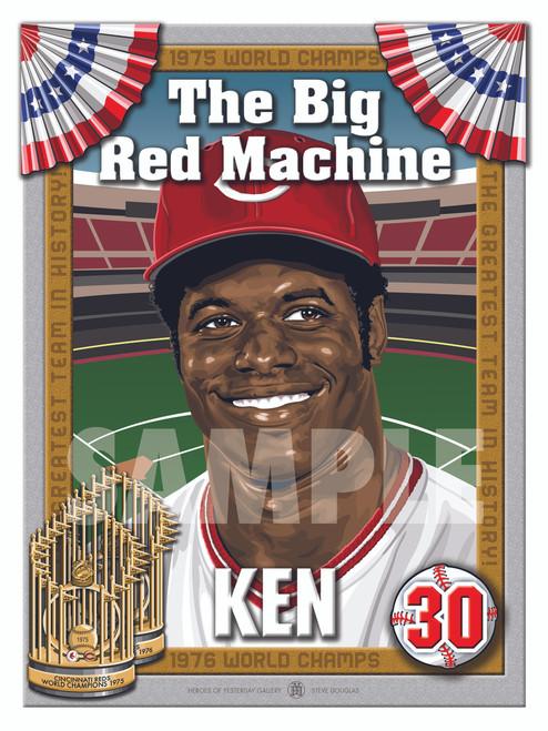 Illustration of Big Red Machine and Cincinnati fan favorite #30 Ken Griffey!