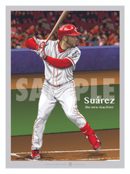 Illustration of one of Cincinnati's new stars and fan favorite Eugenio Suarez!
