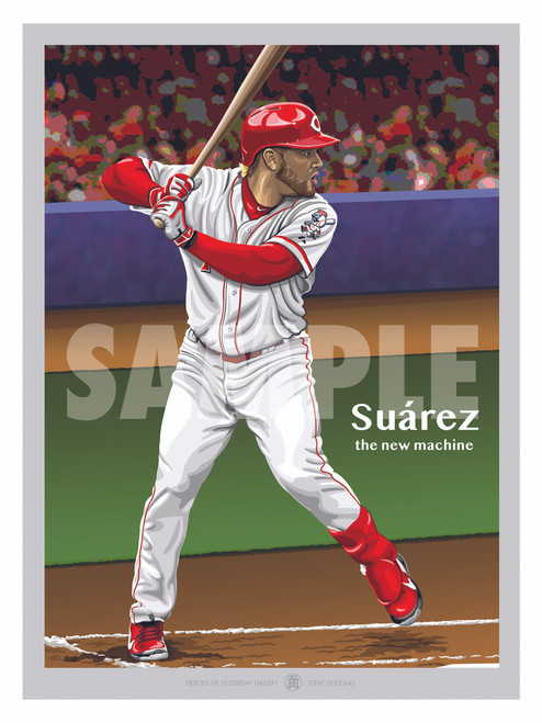 Illustration of one of Cincinnati's new stars and fan favorite Eugenio Suarez!
