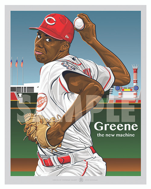 Illustration of top minor league prospect Hunter Greene.