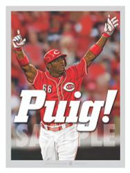 Illustration of the newest Cincinnati player, All-Star Yasiel Puig!