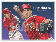 Illustration of one of baseball's newest stars Philadelphia's JT Realmuto!