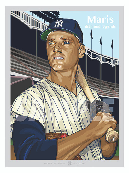 Illustration of one of the All-Time New York Greats Roger Maris!
