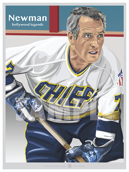 One of Hollywood's All-Time Greats Paul Newman as player-coach Reggie Dunlop from the movie Slap Shot!