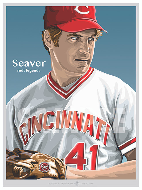 Illustration of one of the All-Time Cincinnati Greats and Hall of Famer Tom Seaver!