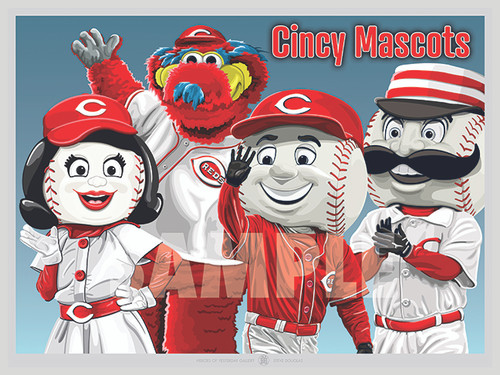 Illustration of the fun Cincinnati Mascots!