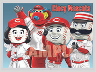 Illustration of the fun Cincinnati Mascots!