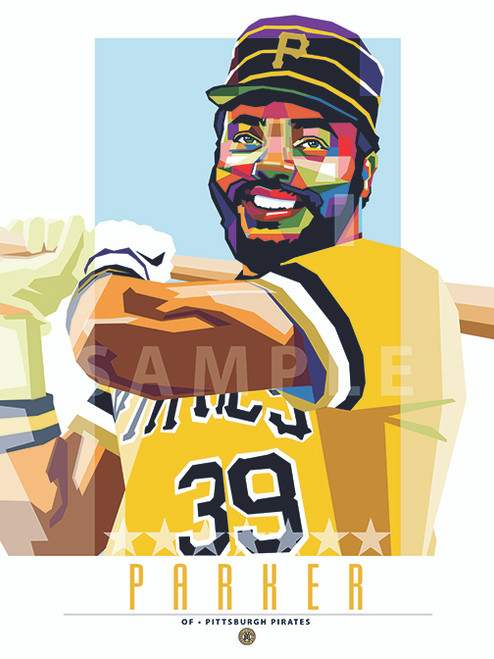 """POP ART series of Pittsburgh Great Dave Parker. 12"""" x 16"""" prints are numbered to only 39."""
