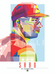 "POP ART series of Cincinnati Great and Fan Favorite Chris Sabo. 12"" x 16"" prints are numbered to only 40."