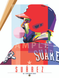 "POP ART series ofCincinnati Great Eugenio Suárez. 12"" x 16"" prints are numbered to only 50."