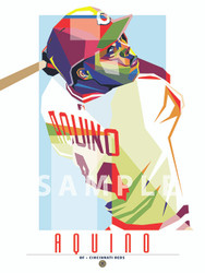 "POP ART series of Cincinnati Fan Favorite Aristides Aquino. 12"" x 16"" prints are numbered to only 44."