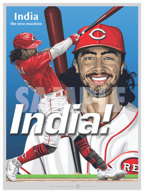 Duel action illustration of Cincinnati's rookie sensation and fan favorite Johnathan India!