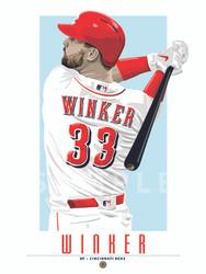 POP ART series of Cincinnati's fan favorite Jesse Winker!